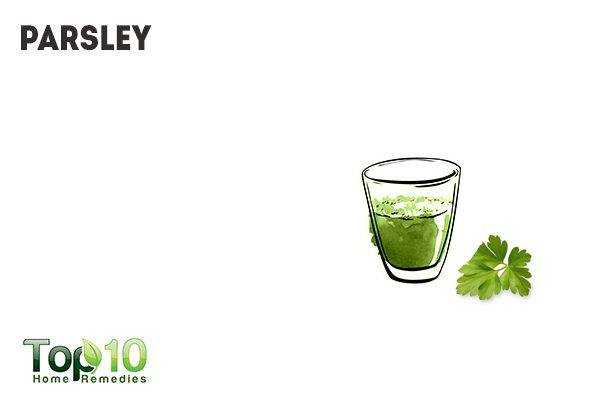 parsley water for dog intestinal worms